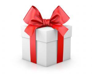 Red Gift Box White Background